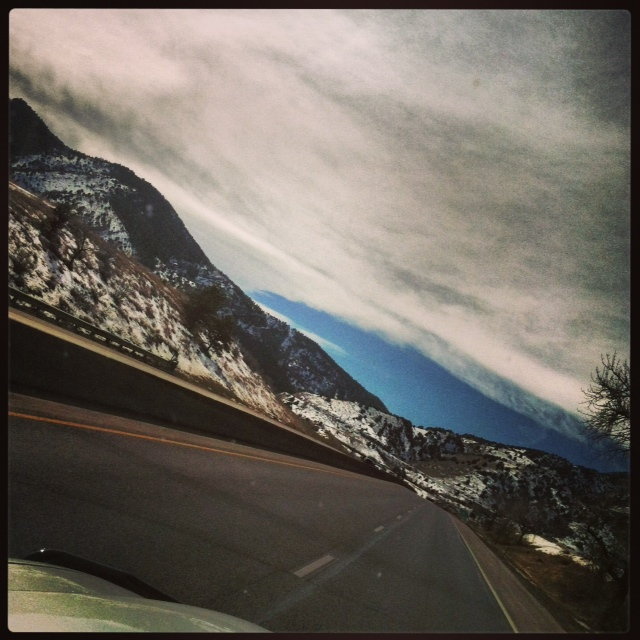 The drive to my mountain home