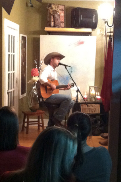 Playing at the private Still Posh show in Stillwater. 70 good looking girls...and me, rough life right?!